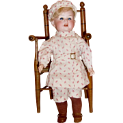 "12"" German Bisque Boy Doll"