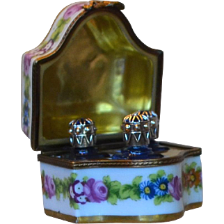 Limoge Porcelain Perfume Box for your Dollies Vanity