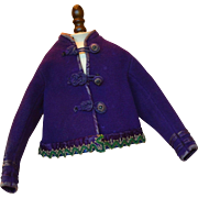 Antique Purple Boiled Wool Jacket