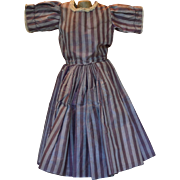 Antique Purple Striped Silk Taffeta Dress
