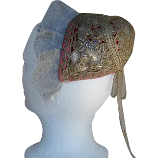 Museum quality 18th c.  Riegelhaube or Gold Cap From Westphalia Germany