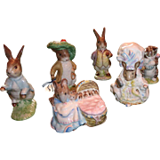 Vintage Royal Albert Figurines of Peter Rabbit and his Friends