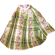 Antique French Silk Plaid Skirt