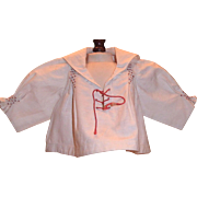Antique White Sailor Shirt for Bisque Doll