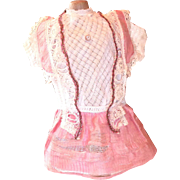 Pink Factory made dress for Bisque Doll