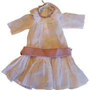 Antique Petite Cotton Dress for Bisque Doll