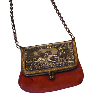 Antique Red Doll's Purse