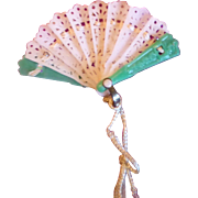Tiny Antique Celluloid Fan
