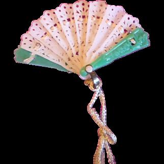 Tiny Antique Celluloid Fan