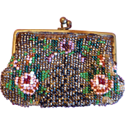 Antique Small Beaded Purse for Dolls