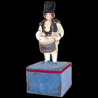 Antique Soldier Boy Drummer with German Bisque Doll
