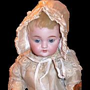 Vintage White Satin Small Baby Bonnet