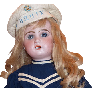 """Antique 19 inch Jumeau """"1907"""" Open Mouth Doll"""