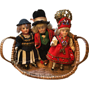 3 German Factory Bisque Dolls