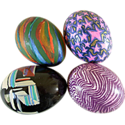 4 Hand-painted Real Easter Eggs