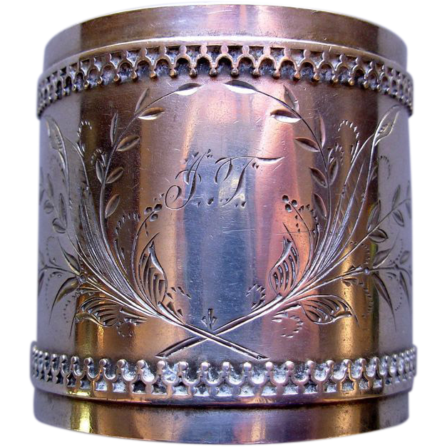 Duhme & Co. Cincinnati, Ohio Coin Silver Napkin Ring