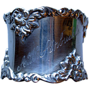Heavy Gorham Sterling Napkin Ring, monogram