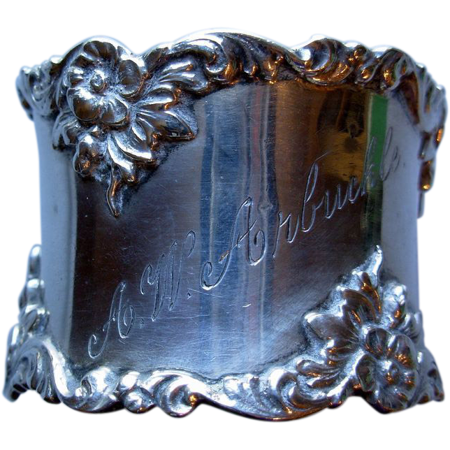 Heavy Gorham Sterling Napkin Ring, monogram