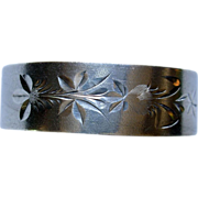 "Gorham Bright Cut Sterling Napkin Ring ""Silas"""