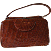 Genuine Crocodile Handbag Vintage 1960s