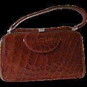 Genuine Crocodile Handbag Vintage 1960s