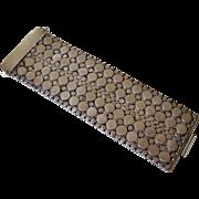 Bold Mid-Century Modern Sterling Cuff Bracelet