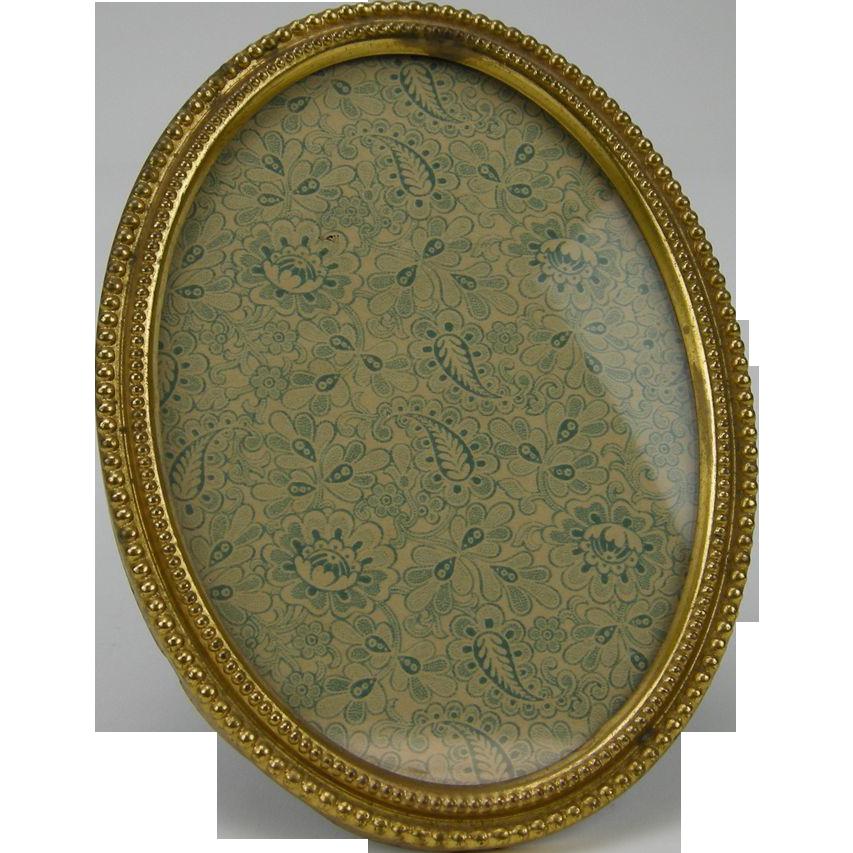 Antique Edwardian Oval Brass Tabletop Frame
