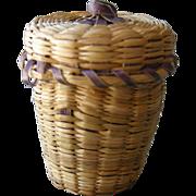 Antique Sweetgrass Basket Thimble Holder