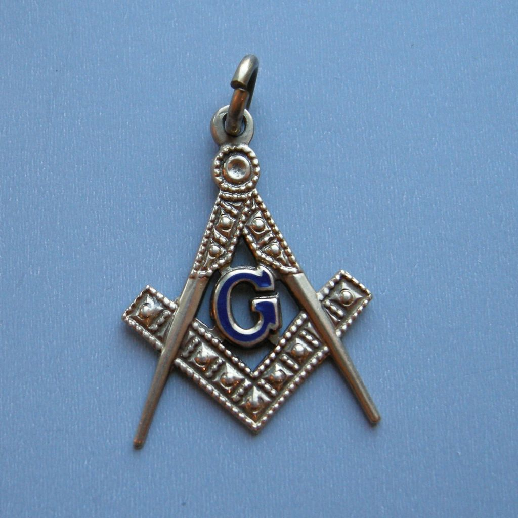 masonic symbol 10k gold charm sold on ruby