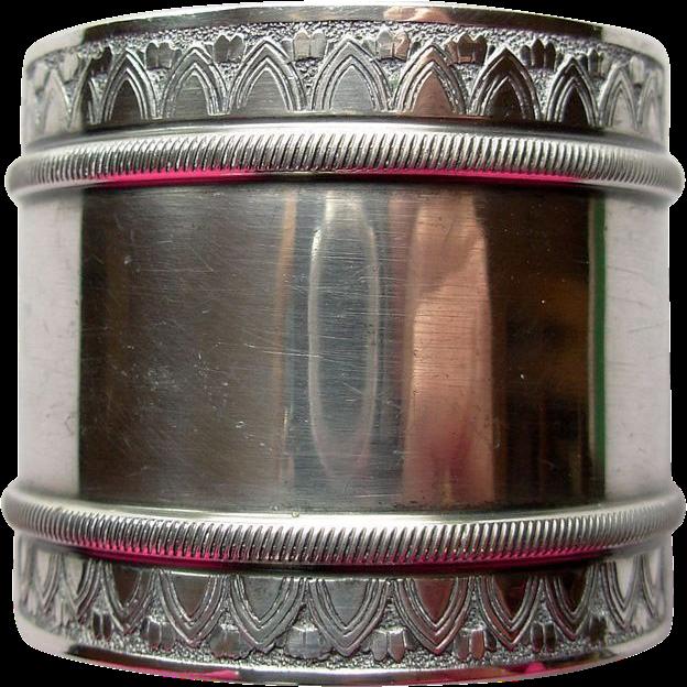 Antique Gorham Silverplate Napkin Ring, no monogram
