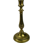 Early 19th C.  Fine Antique Brass Candlestick