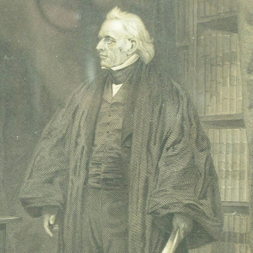 Supreme Court Justice Joseph Story, framed antique  engraving