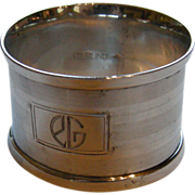 Vintage Art Deco Webster Sterling Napkin Ring, mono EG