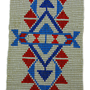 Authentic Vintage Lakota Sioux Beadwork Strip