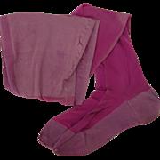 Vintage 1920s Seamed Stockings, Shocking Pink