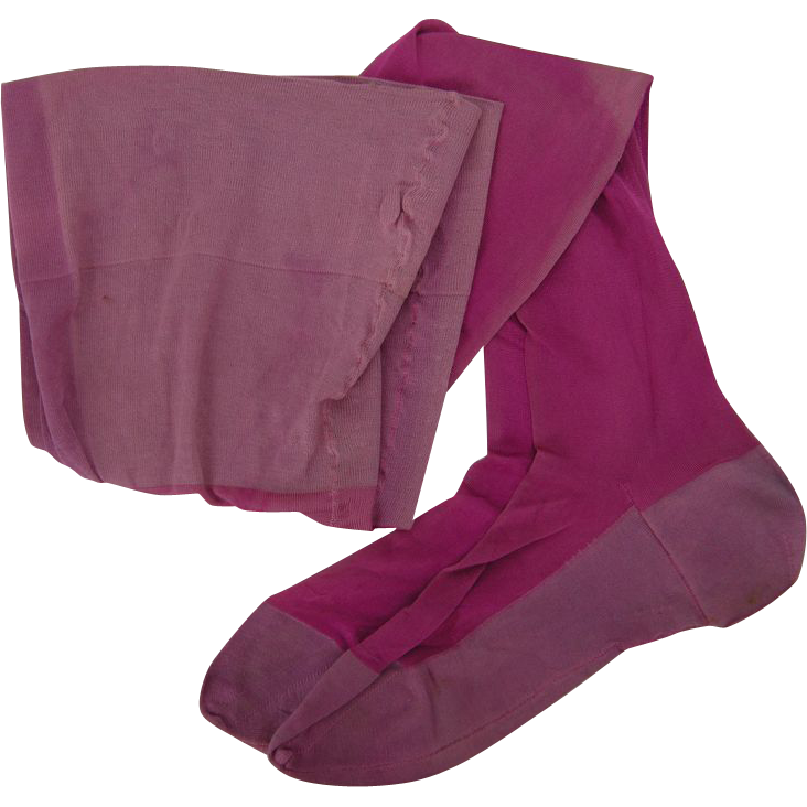 Vintage 1920s Seamed Stockings, Shocking Pink