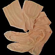 Vintage 1920s Seamed Stockings, Peach Pink