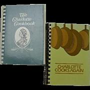 The Charlotte Cookbook & Charlotte Cooks Again, 2 cookbooks