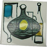 Ann Wynn Reeves Mid-Century English Ceramic Tile