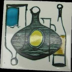 Ann Wynn Reeves Mid-Century English Ceramic Tile