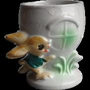 Vintage Pottery Peter Rabbit Egg Cup, Japan