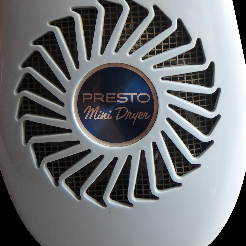 Vintage Powder Blue Presto Mini Hair Dryer, Model PP200