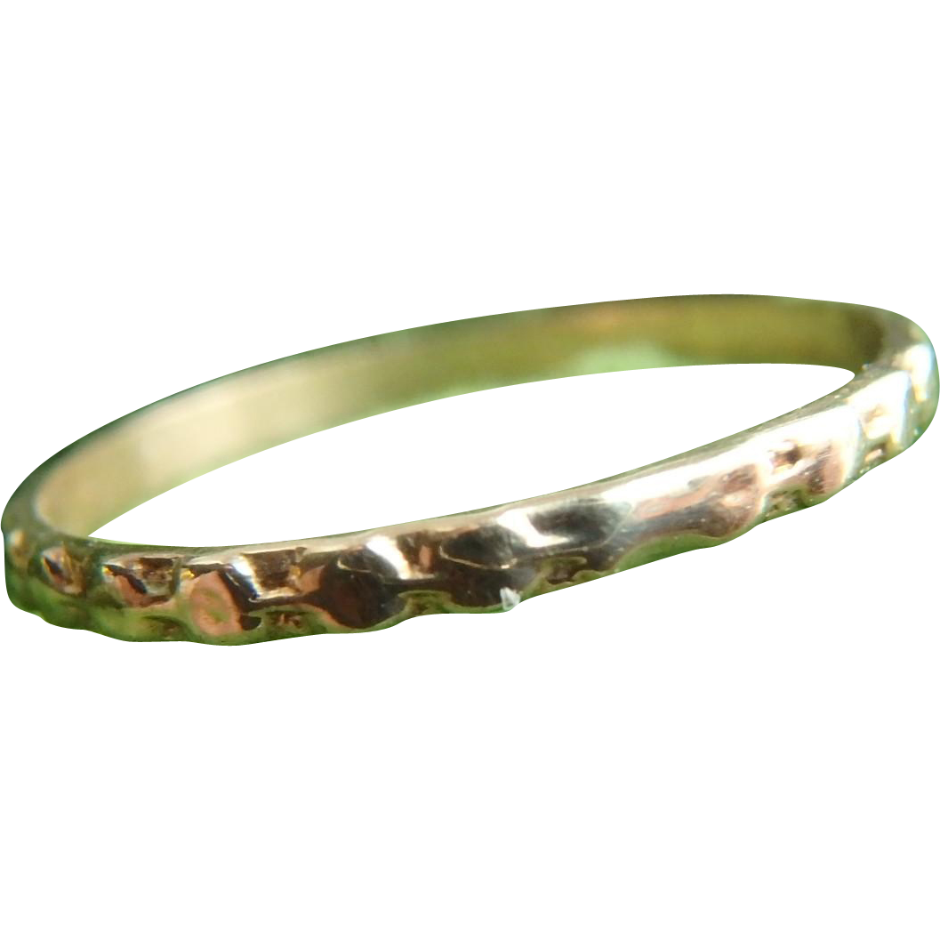10K Yellow Gold Baby Ring