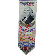 George Washington Antique Woven Silk Bookmark