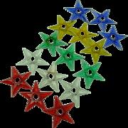 Glo-Stars for Christmas Tree Lights, set of 15
