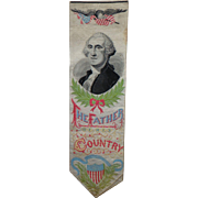 George Washington Antique Silk Bookmark