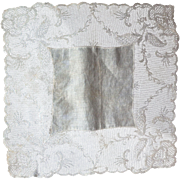 Antique Wedding Handkerchief Linen and Lace c.1900