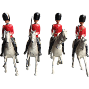 Vintage Britains Royal Scots Guard on Horseback Lead Soldiers