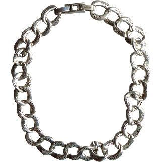 Vintage Brighton Silver-tone Link Necklace