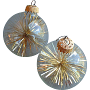 Two Large Vintage Christmas Ornaments, Germany